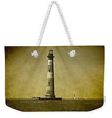 Morris Island Light Vintage Bw Uncropped Weekender Tote Bag