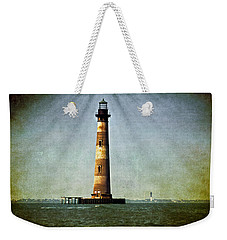 Morris Island Light Vintage Color Uncropped Weekender Tote Bag