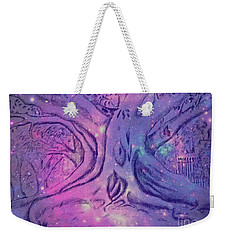 Weekender Tote Bag featuring the drawing Morton Bay In Fairy Dust by Leanne Seymour