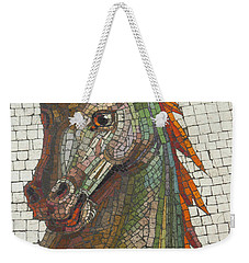 Weekender Tote Bag featuring the photograph Mosaic Horse by Marcia Socolik