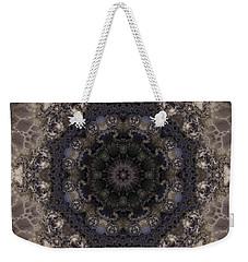 Mosaic Tile / Gray Tones Weekender Tote Bag by Elizabeth McTaggart