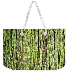 Moss On Tree Bark Weekender Tote Bag