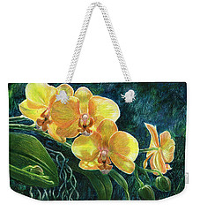 Moth Orchids Weekender Tote Bag by Sandra LaFaut