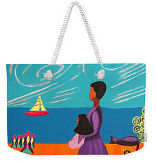 Mother And Daughter Weekender Tote Bag by Anita Lewis
