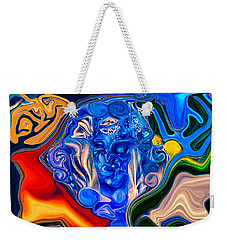 Weekender Tote Bag featuring the painting Mother Earth by Omaste Witkowski