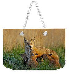 Mother Fox And Kits Weekender Tote Bag