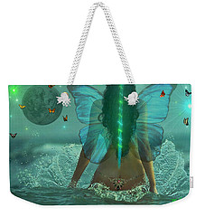 Weekender Tote Bag featuring the digital art Mother Nature by Michael Rucker