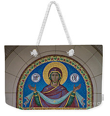 Mother Of God Mosaic Weekender Tote Bag