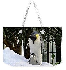 Mother Penguin And Baby Weekender Tote Bag