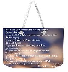 Mother Teresa Of Calcutta Weekender Tote Bag