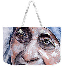 Mother Theresa Watercolor Weekender Tote Bag by Laur Iduc
