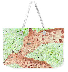 Weekender Tote Bag featuring the painting Motherly Love by Tracey Williams