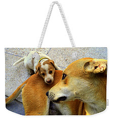 Mother's Affection Weekender Tote Bag by Salman Ravish
