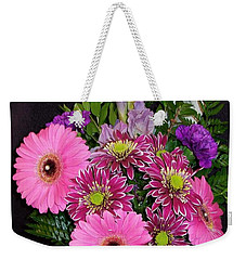 Weekender Tote Bag featuring the photograph Mother's Day Bouquet by Sharon Duguay