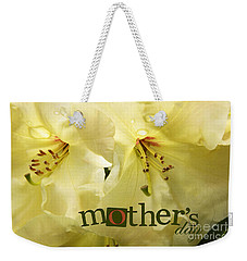 Weekender Tote Bag featuring the photograph Mothers Day by Jean OKeeffe Macro Abundance Art