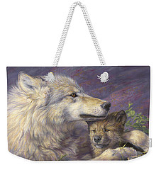 Mother's Love Weekender Tote Bag by Lucie Bilodeau