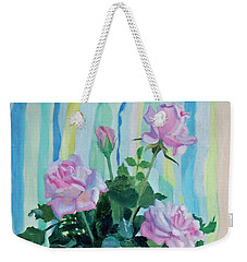 Mother's Roses Weekender Tote Bag by Bonnie Mason