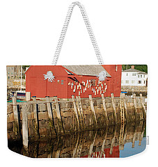 Weekender Tote Bag featuring the photograph Motif 1 With Reflection by Richard Bryce and Family