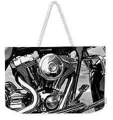 Motorcycle Engine Black And White Weekender Tote Bag