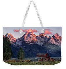 Weekender Tote Bag featuring the photograph Moulton Barn by Leland D Howard