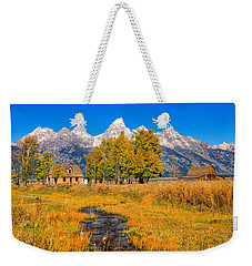 Weekender Tote Bag featuring the photograph Moulton Homestead by Greg Norrell