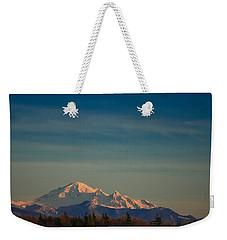 Mount Baker Sunset Weekender Tote Bag