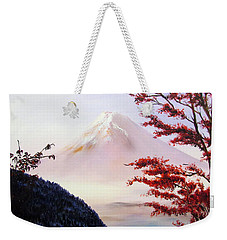 Mount Fuji Weekender Tote Bag by Alexandra Louie
