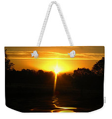 Mount Lassen Sunrise Gold Weekender Tote Bag