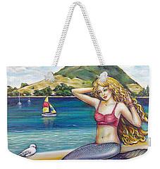 Mount Maunganui Beach Mermaid 160313 Weekender Tote Bag by Selena Boron