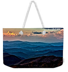 Weekender Tote Bag featuring the photograph Mount Mitchell Sunset by John Haldane