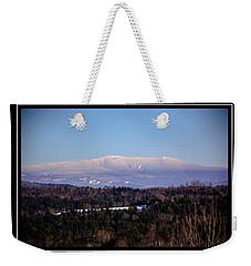 Mount Moosilauke Snowy Blanket Weekender Tote Bag