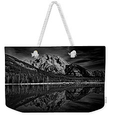 Mount Moran In Black And White Weekender Tote Bag