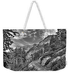 Mount Pilchuck Black And White Weekender Tote Bag