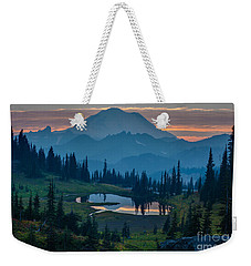 Mount Rainier Layers Weekender Tote Bag