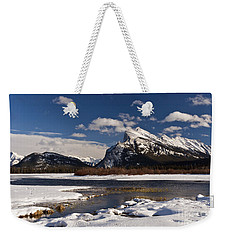 Mount Rundle Weekender Tote Bag by Dee Cresswell