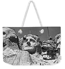 Mount Rushmore In South Dakota Weekender Tote Bag by Underwood Archives