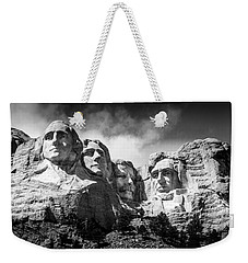 Mount Rushmore National Memorial In Black And White Weekender Tote Bag