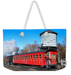 Weekender Tote Bag featuring the photograph Mount Washington Cog Railway Car 6 by Debbie Stahre