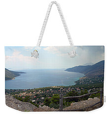 Mountain And Sea View In Greece Weekender Tote Bag