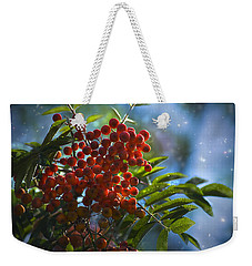 Weekender Tote Bag featuring the photograph Mountain Ash by Yulia Kazansky