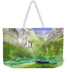 Mountain Day Weekender Tote Bag