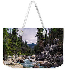 Mountain Emerald River Photography Print Weekender Tote Bag by Jerry Cowart