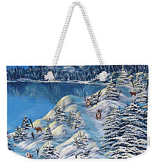 Mountain Goats Of Grand Forks Weekender Tote Bag by Barbara St Jean