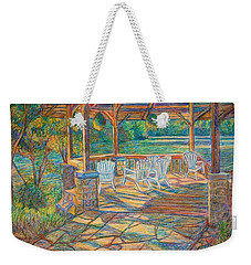Mountain Lake Shadows Weekender Tote Bag