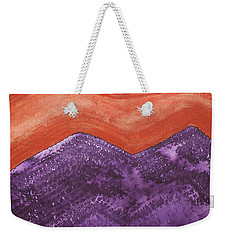 Mountain Majesty Original Painting Weekender Tote Bag
