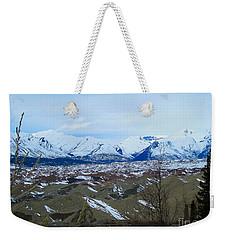 Mountain Meringue Weekender Tote Bag by Heather  Hiland