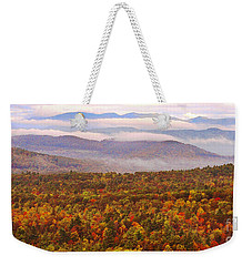 Mountain Mornin' In Autumn Weekender Tote Bag by Lydia Holly