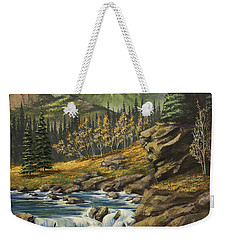 Mountain Of The Holy Cross Weekender Tote Bag by Jack Malloch