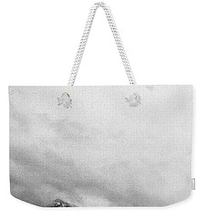 Mountain Peak In Clouds Weekender Tote Bag