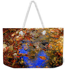 Mountain Stream Covered With Fall Leaves Weekender Tote Bag